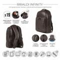 Brialdi Мужской рюкзак Infinity relief brown