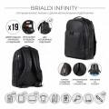 Brialdi Мужской рюкзак Infinity relief black