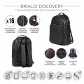 Brialdi Мужской рюкзак Discovery relief black