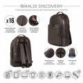 Brialdi Мужской рюкзак Discovery relief brown