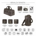 Brialdi Дорожная сумка-рюкзак Sparta relief brown