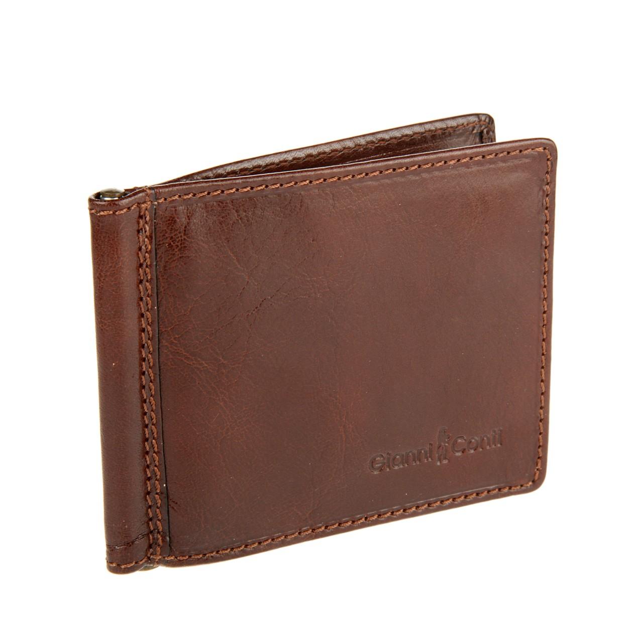 0d43fb48a1b9 Gianni Conti Зажим для денег 907101 brown - q-trend.ru | сумки ...