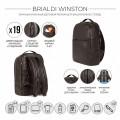Brialdi Мужской рюкзак Winston relief brown